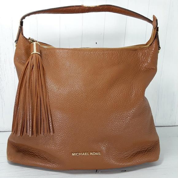 michael kors bags bedford tassel leather hobo bag poshmark rh poshmark com